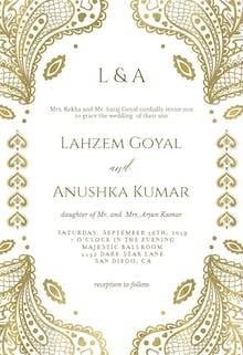 Indian floral paisley - Wedding Invitation