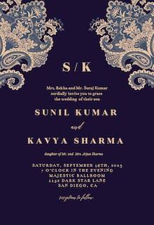 Indian floral - Wedding Invitation