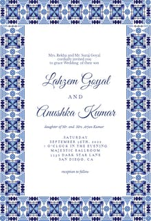 Indian frame - Wedding Invitation