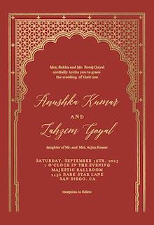 Indian gateway - Wedding Invitation