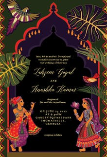 Indian lovers - Wedding Invitation