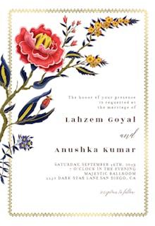 Indian wild flower & frame - Invitación De Boda