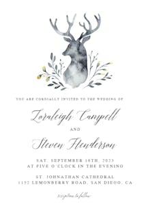 Indigo Deer - Wedding Invitation
