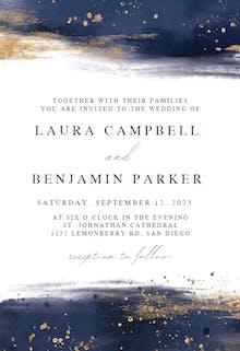 Indigo Watercolor - Wedding Invitation