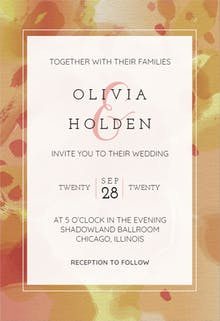 Inked Frame - Wedding Invitation