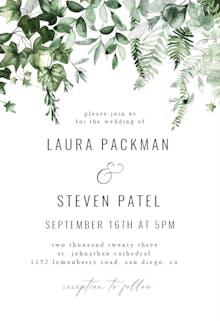 Ivy and Sage - Wedding Invitation