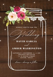 Jar of love - Wedding Invitation