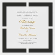 Joined Squares - Wedding Invitation