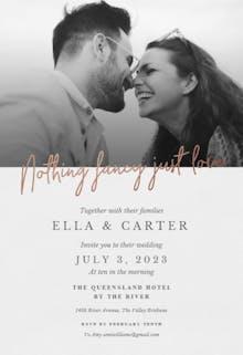 Just Love - Wedding Invitation