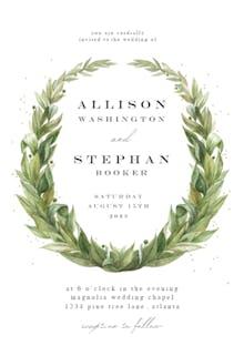 Laurel Wreath - Wedding Invitation