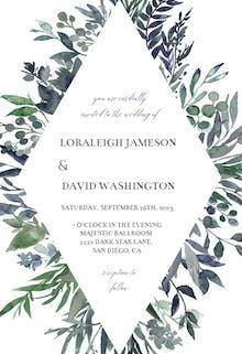 Leafy Frames - Wedding Invitation