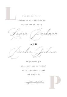 Light Initial - Wedding Invitation