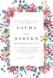 Lively flowers - Wedding Invitation