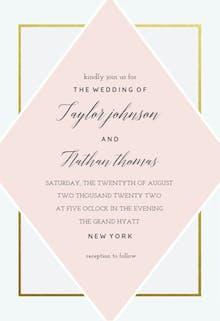 Lozenge - Wedding Invitation