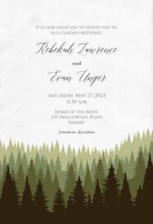 Magical Forest - Wedding Invitation