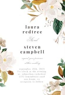 Magnolia Blooms - Wedding Invitation