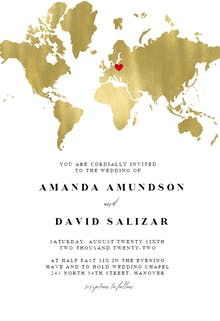 Map of love - Wedding Invitation