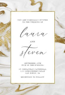 Marble frame - Wedding Invitation
