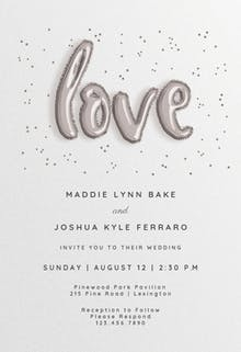 Marry Balloons - Wedding Invitation