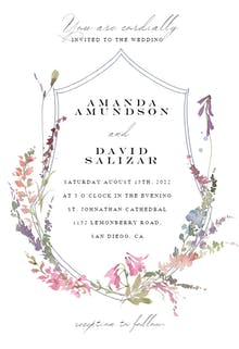 Meadow Watercolor Frame - Wedding Invitation
