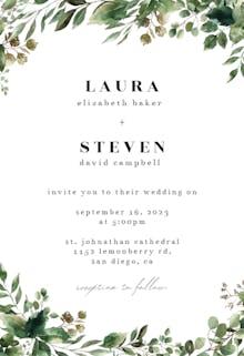 Minimal Greenery - Wedding Invitation