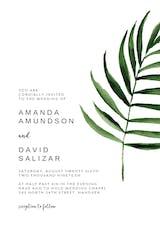 Minimal Leaves - Wedding Invitation