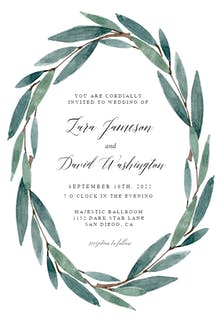 Modern Leaves - Wedding Invitation