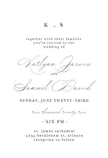 Modern Vintage - Wedding Invitation