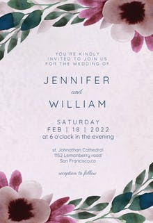 Moody blooms - Wedding Invitation