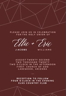 Mosaic Wedding - Wedding Invitation