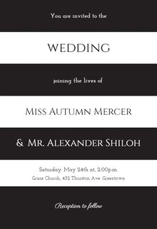 Newly Minted - Wedding Invitation