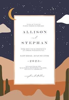 Nighty desert - Wedding Invitation