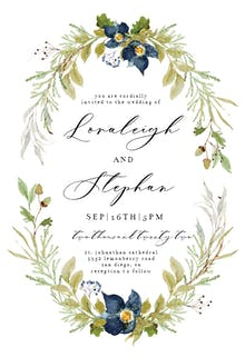 Oak And Berry - Wedding Invitation