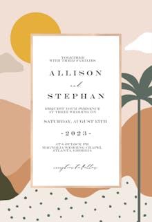 Oasis - Wedding Invitation