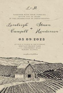 Old Barn - Wedding Invitation