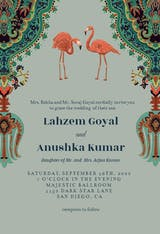 Oriental flamingos - Wedding Invitation