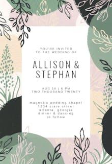 Paint Shapes - Wedding Invitation