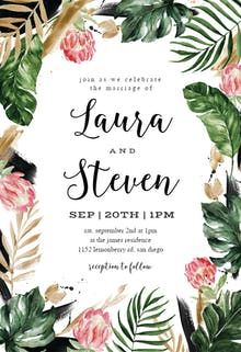 Painterly Tropical - Wedding Invitation