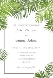 Palm Leaves - Wedding Invitation