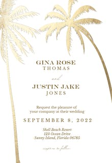 Palm trees - Wedding Invitation