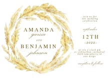 Pampas Grass Border - Wedding Invitation