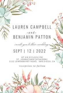 Pastel Boho - Wedding Invitation