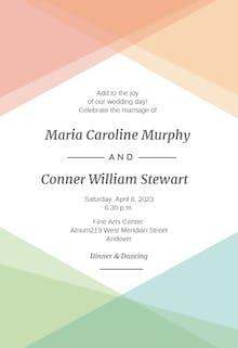 Pastel Pattern - Wedding Invitation