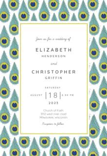 Peacock patterns - Wedding Invitation
