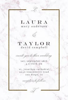 Pearl Background - Wedding Invitation
