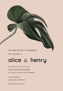 Philodendron - Wedding Invitation