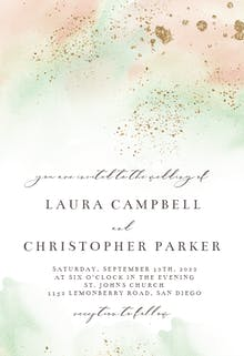 Pink Paint and Gold - Wedding Invitation