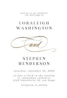 Pretty And - Wedding Invitation