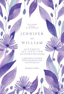 Purple field - Wedding Invitation