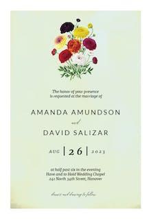 Ranunculus Flowers - Wedding Invitation